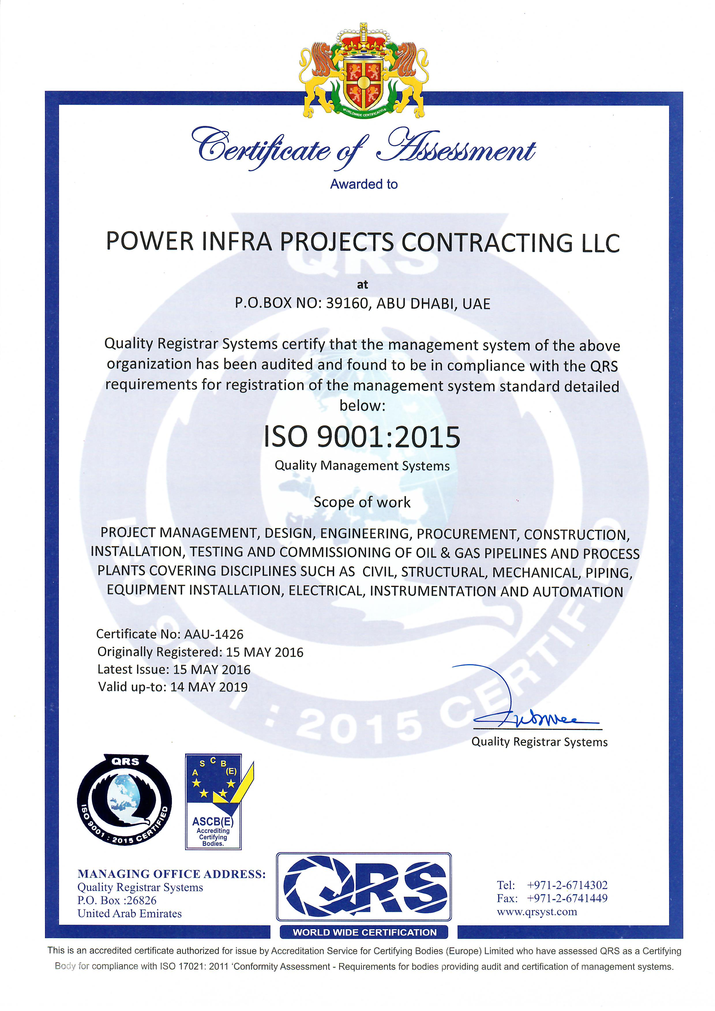 Power Infra Projects Contracting Llc